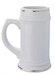 22oz Beer Mug (gold rim)